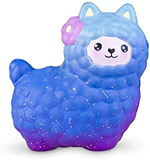 VLAMPO Cute Alpaca Squishies Slow Rising - Mini Squishy Toys Soft Squeeze Scented Decorations 4 Inch Miniature Animal Llama Small Squishies for Girls Boys