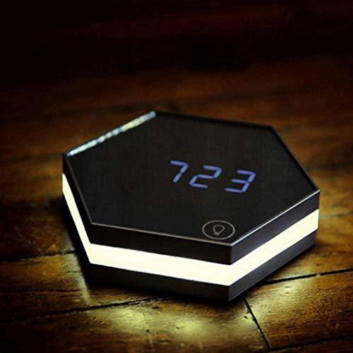 ZHICHUAN Reloj Creativo Espejo Alarma Dormitorio Noctiluciente Mute Pared Perezoso Hombre Moda Electrónica Reloj de cocina/C