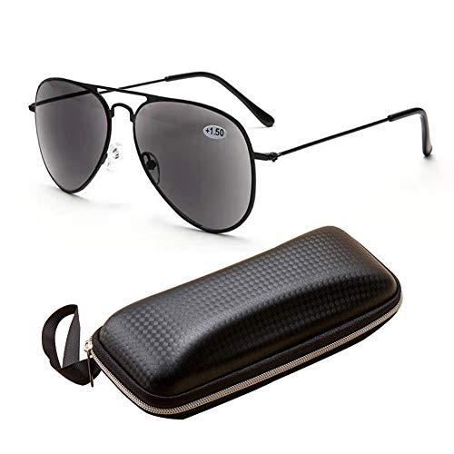 VOCD Leesbril met volledig zichtglas ultralichte Presbyopie-zonnebril met dubbel doel Fashion Sports Zonnebril - volledig formaat van metaal voor mannen en vrouwen