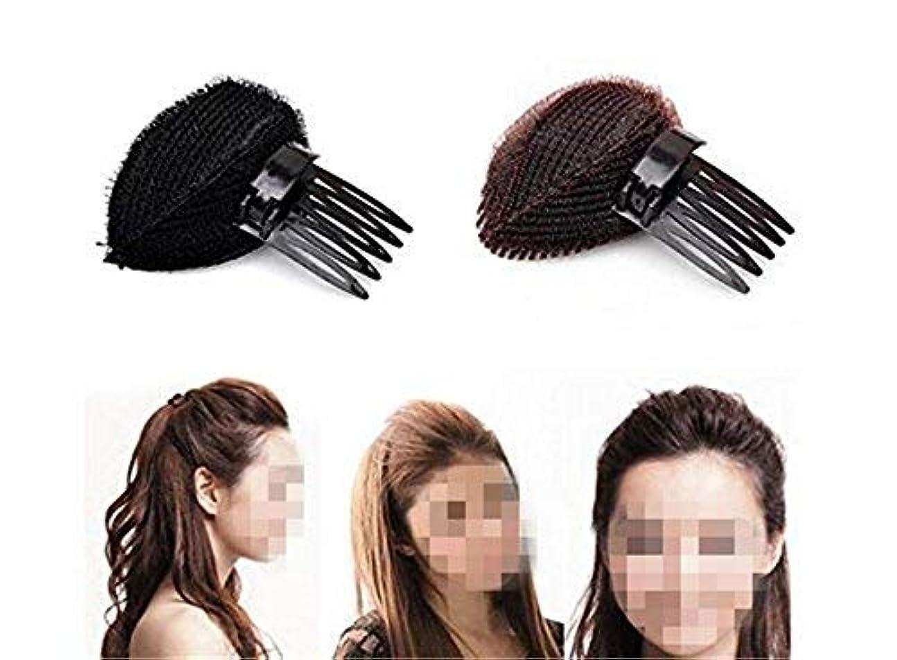 多様体バイオリン水分2pcs Hair Styler Volume Bouffant Beehive Shaper Bumpits Bump Foam Hair Styler Clip Stick Comb Insert Tool [並行輸入品]