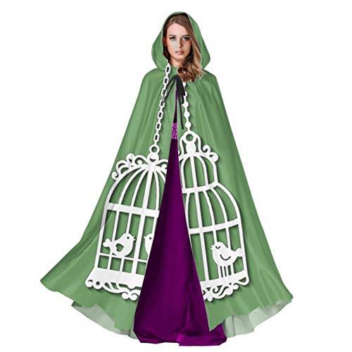 Yushg Hängender Birdcage Ivy Strickumhang und Umhänge Eleganter Umhang 59inch Für Weihnachten Halloween Cosplay Kostüme