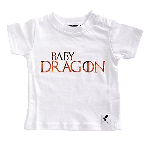 Elbenwald Dragón del bebé de la Camiseta para el Juego de Tronos Ventiladores de algodón Blanco 92