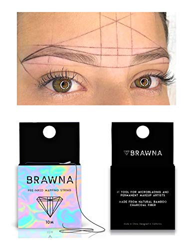BRAWNA Pre Inked Mapping String for Microblading & Microshading Premium Microblading string. Microblading Supplies. PMU & Microblading kit