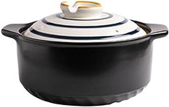 Keramische braadpan, Nederlandse oven, kleipot, soeppan voor stoofpot, soep, stoom, krasbestendig, koelkast, ovenveilig, m...