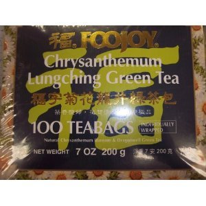 Foojoy Chrysanthemum Lungching Green Tea 100 Tea Bags (Pack of 1)