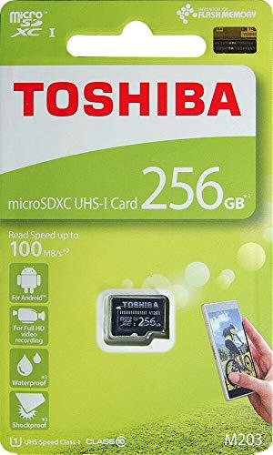 Toshiba M203 256GB Class 10 Micro SD Memory Card (THN-M203K2560A4)