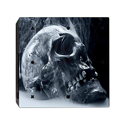 Mcbazel Pattern Series Vinyl Skin Sticker For PS4 Pro Controller & Console Protect Cover Decal Skin (Black Skull)