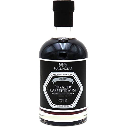 Hallingers Premium Kaffee-Likör (350ml) - Royaler Kaffeetraum 30% vol. (Exklusivflasche) - zu Passt immer Für Sie Für Ihn
