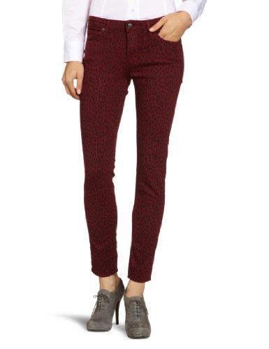 Lee Jeans da Donna L526JVXG Scarlett Red Leo Skinny/Slim Fit (Tubo) Vita Alta Rouge – Rosso (Red Leo) 29W x 33L