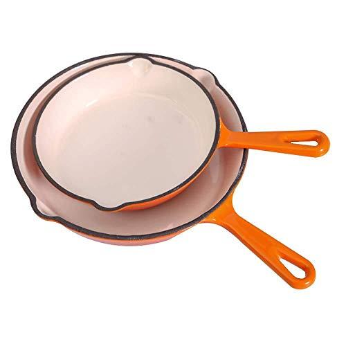 Art Jian Poêle en Fonte Mini poêle, ustensiles de Cuisine résistant à la Chaleur, Petit déjeuner Omelette Steak avec Un Wok Universel à Fond Plat de Cuisson Universel