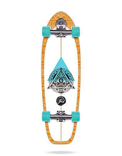 YOW Teahupoo Surfskate Unisex Erwachsene, Weiß/Blau