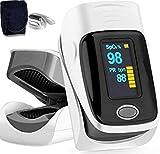 Professionale Pulsossimetro dito Ossimetro allarme ideale misurazione rapida della saturazione ossigeno (SpO2) Semplice cardiofrequenzimetro bambini adulti Display OLED (Pulsossimetro)