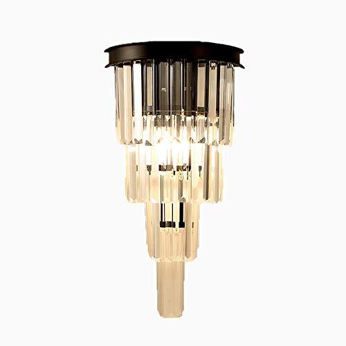Moderne Créatif Cristal Appliques Salon Décoration Corridor Chambre Lampe De Chevet Déco Murale Appliques Murales Luminaire,Black