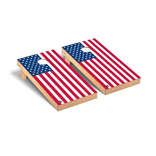 Victory Tailgate US Flag Regulation Cornhole Bean Regulation Bag Toss Game Set Flat Version