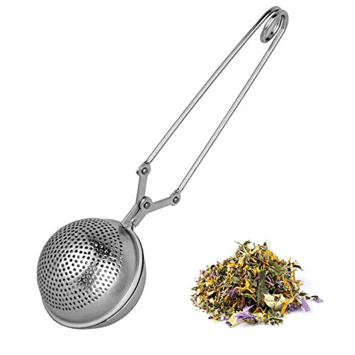 Bazzeff Infusor de té de acero inoxidable. Infusores de té para tisana de todo tipo. Tizana infusor con contenedor para gran capacidad de hierbas/tisanas. Infusor para taza clásico. Tea infuser