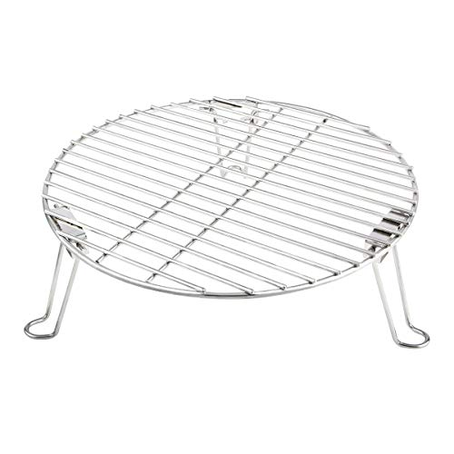 """Mydracas Grill Expander Rack Stack Rack Expansion Grilling Rack Stainless Steel Fit Large & XL Big Green Egg Weber Kettle 22 Inches Charcoal Grill Kamado Joe,18"""" or Bigger Diameter Grill"""