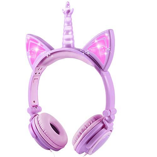 Sunvito - Auriculares de unicornio para niños,...