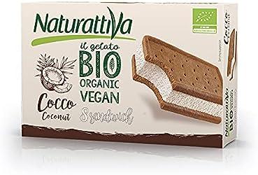 Naturattiva Sándwich Helado Vegetal a Base de Coco, 8 x 40g (Congelado)