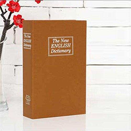 ZANTEC Cassaforte Forma Dizionario Fashion Creative Dictionary Secret Book Cassaforte Home Security Key Lock Decorazione della Casa Piccola