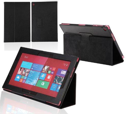 Navitech - Custodia in simil pelle per tablet nero nero Nokia Lumia 2520