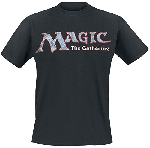 Magic the Gathering T Shirt Distressed Logo Nue offiziell Herren