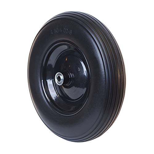 ALEKO WBNF16 Anti Flat Ribbed Replacement Wheel for Wheelbarrow 16 Inches No Flat Tire Black