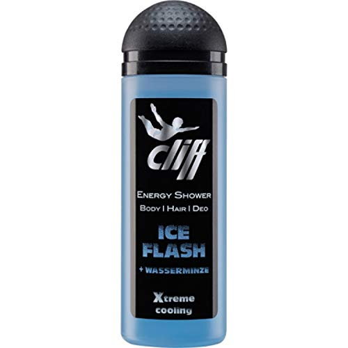 Cliff Duschgel Energy Shower Ice Flash 50 ml, 10er Pack (10 x 50 ml)