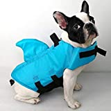 SwimWays Sea Squirts Dog Life Vest w/Fin for Doggie Swimming Safety, Color: Blue, Size: Small