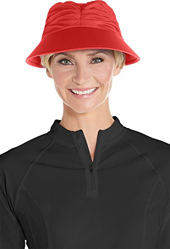Coolibar Gorra Solar para Mujer con protección UV, Mujer, 02360-6431/S-M, Amapola Roja,...