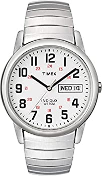 Timex Men s T20461 Easy Reader 35mm Silver-Tone Stainless Steel Expansion Band Watch