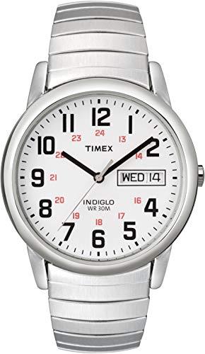 Timex T20461PF Orologio Analogico da Polso da Uomo, Acciaio Inox, Bianco/Argento