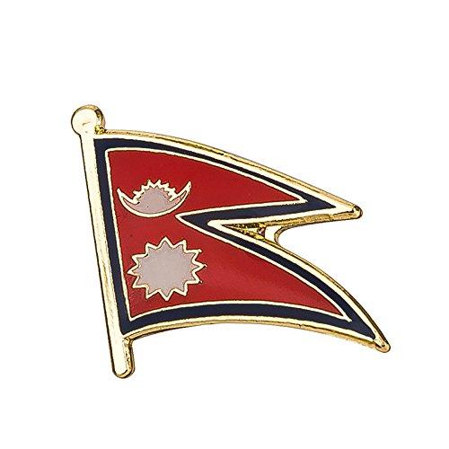 Nepal Nepalese Vlag Metalen Pin Badge