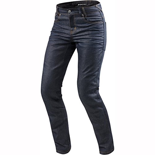 REV'IT! Motorrad Jeans Motorradhose Motorradjeans Lombard 2 RF Jeanshose dunkelblau 32/34, Herren, Chopper/Cruiser, Ganzjährig, Textil