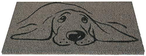 Bestlivings Felpudo de coco, 25 x 50 cm, diseño de perro