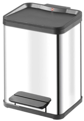 Hailo 0622-019, Öko duo M, Tret-Abfalltrenner, 2x9 Liter, edelstahl