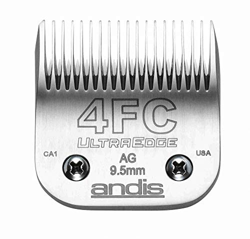Andis Carbon-Infused Steel UltraEdge Dog Clipper Blade, Size-4 FC, 3/8-Inch Cut Length (64123)