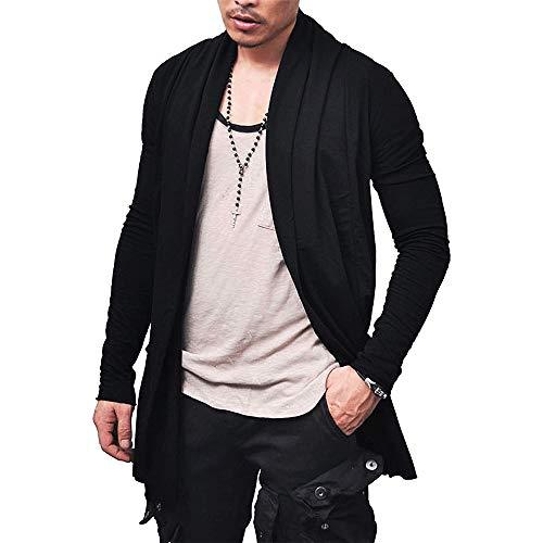 Cardigan Blusa de Frio Sobretudo Masculino – Slim Fitness – Preto G