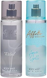 Affetto By Sunny Leone Rebel & Aqua Spell Body Mist - For Women 200ML Each (400ML, Pack of 2)