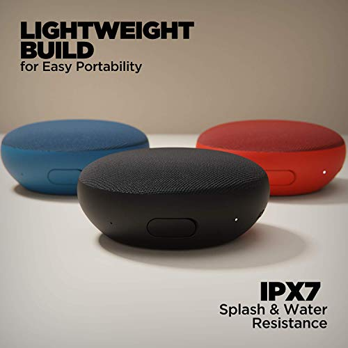 """boAt Stone 180 5W Bluetooth Speaker with Upto 10 Hours Playback, 1.75"""" Driver, IPX7 and TWS Feature(Blue)"""