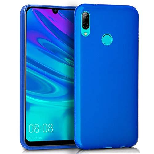 Wephone Accesorios Funda de Silicona y Cristal Templado para Huawei P Smart 2019 Color Azul
