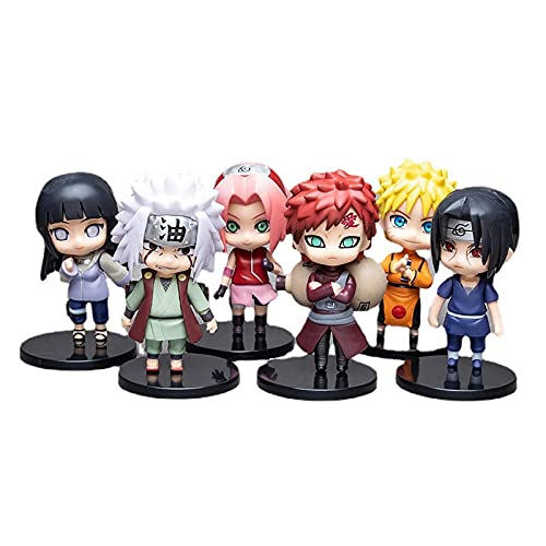 6Pcs Naruto Shippuden Figura De Acción del Personaje Modelo Itachi Sasuke Q Versión PVC Figura De Anime Estatua Adornos Colección De Juguetes para Muñeca Amiga Regalo 10Cm