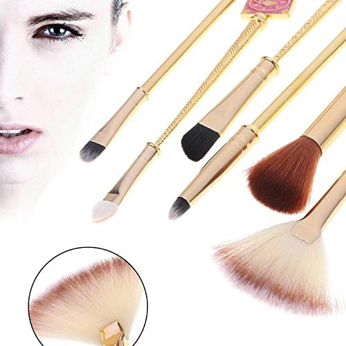 HZD Anime Cosplay Pentagram Wings Magic Wand Makeup Brush Cosplay Brush,8PCS