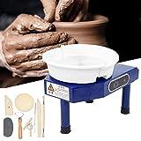 wjsw ruota per ceramica, macchina per formatura di ceramica ruota per ceramica elettrica con pedale per argilla ceramica artigianato argilla fai-da-te (spina britannica 350w)