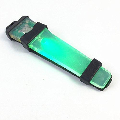 LED Marque FLASHLIGHT New Tactical CASQUE LED SÉCURITÉ corps noir vert