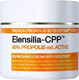 Elensilia CPP French Propolis 80 Resistem Facial Refreshing Cream 50 Gram/1.76 Ounce Korean Beauty Skincare Cream, Made in Korea (1Pack)