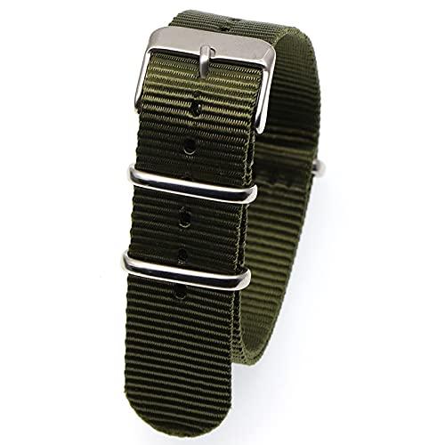 Reloj de bolsillo Reloj banda correa correa pulsera 18 mm 20 mm 22 mm reloj de reloj de reloj de reemplazo de rayas Accesorios Banda negra, correa de reloj marrón Reloj de bolsillo de cuarzo