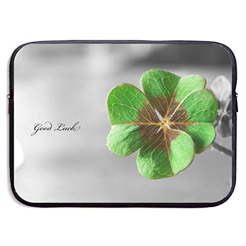 Four-Leaf Clover Representing Good Luck Laptop Sleeve Bag Case,Laptop Briefcase Soft Carring Tablet Travel Case,13 inch
