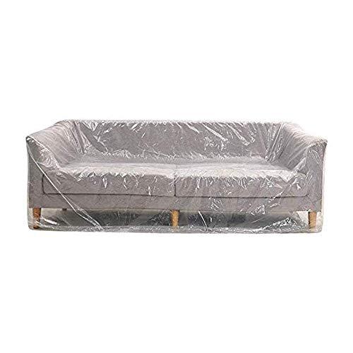 FEIGER Paquete de 2 Fundas de plástico para sofá, Resistentes, Impermeables, más Gruesas, Transparentes, para sofá, Cama, sofá, Muebles, Fundas de protección para Alma