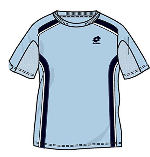 Lotto Camiseta de Slice RN, hombre, talla XL (US), Artic/Dark Navy