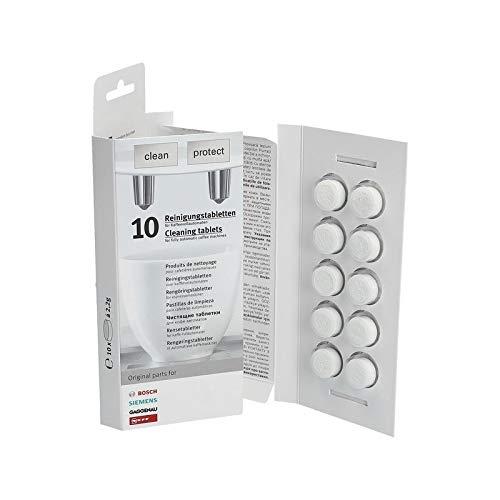 LUTH Premium Profi Parts reinigingsborstel met reinigingstabletten geschikt voor Siemens 00311969 TZ80001 + Bosch ontkalkingstabletten 00311821 TZ80002